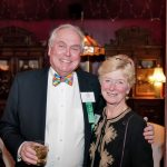 Trustees Jerry Ludwig and Beth Teall, who served on the 75th Celebration Committee that organized the 75th Party.